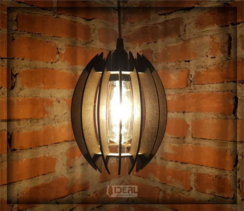lustre luminaria pendente rustico madeira triplo 1,5m 004tp