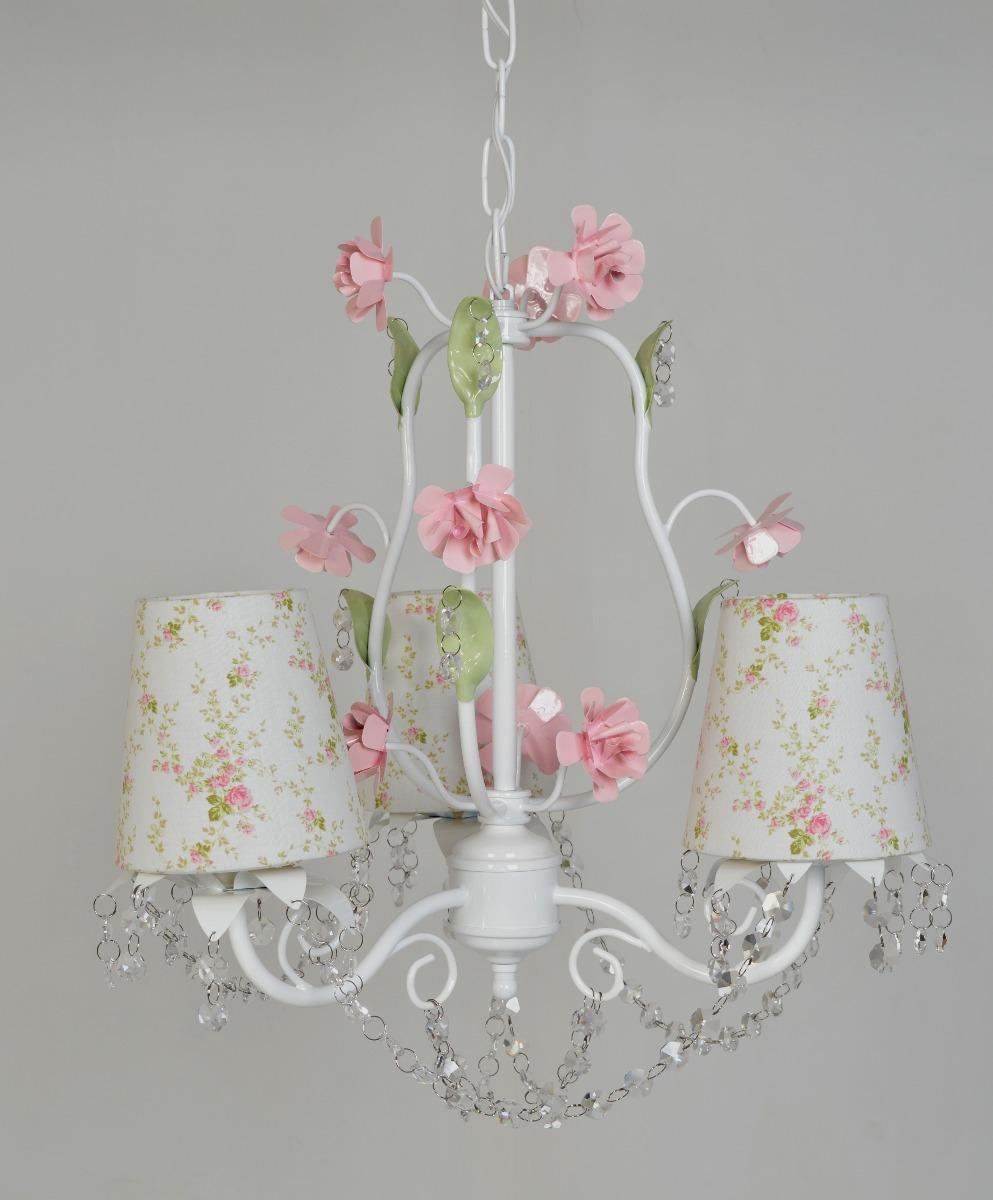 lustre lumin ria proven al cristal pendente flor menina. Black Bedroom Furniture Sets. Home Design Ideas