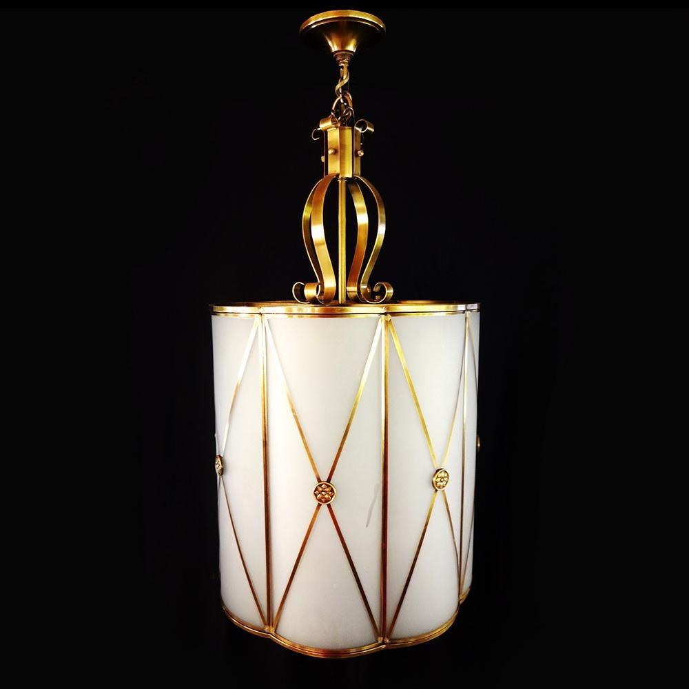Lustre Metal Dourado Clássico Pendente R 155584 Em Mercado Livre