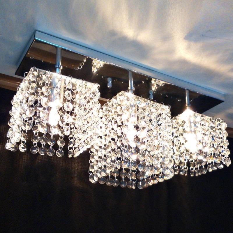 Lustre para sala de jantar estar quarto com 470 cristais for Lustres para sala de estar