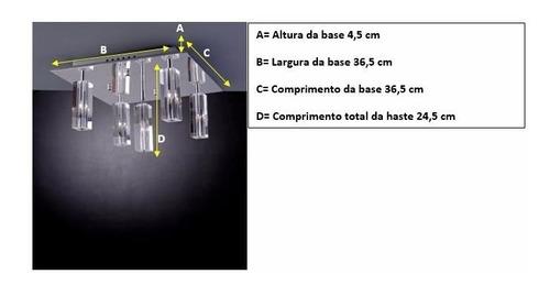 lustre para sala pendolo cristal 5 luzes 220v bronzearte