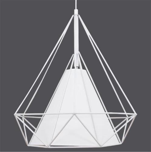 lustre pendente aramado diamante-bivolt