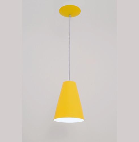 lustre pendente cadiz 1l- amarelo - auremar - varias cores