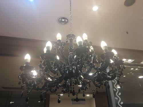 lustre pendente candelabro cristal 18 lampadas arandela led