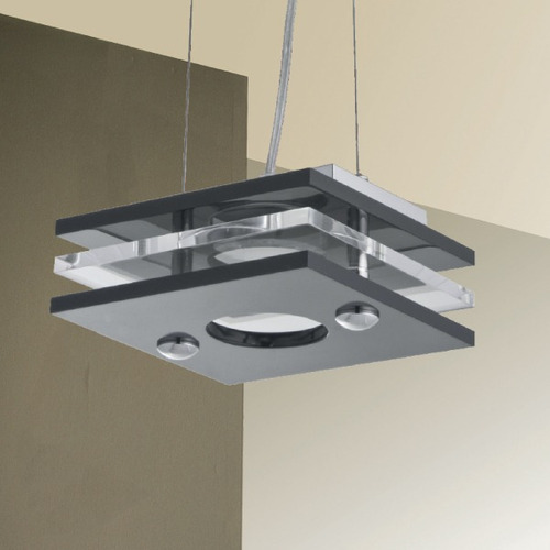 lustre pendente cozinha quadrado 18x18 luminária t298-1 gda
