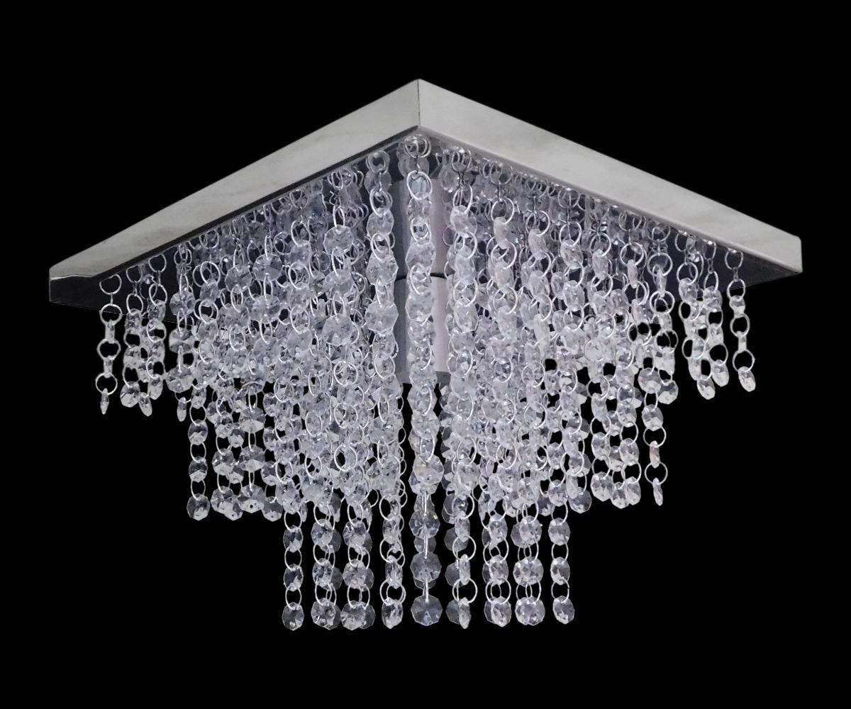Lustre Pendente Cristal Acrilico Sala Cozinha Barato 25×25 R 100