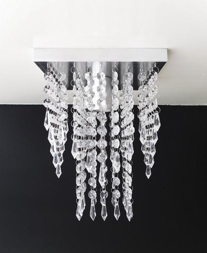 lustre pendente cristal acrílico sala quarto cozinha