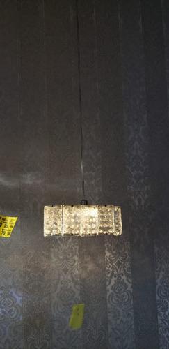 lustre pendente de cristal legitimo k9  lampada led inclusa