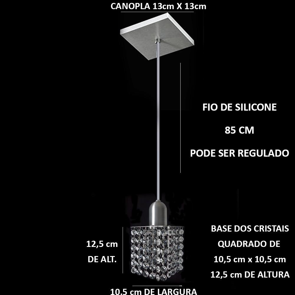 Lustre Pendente De Cristal Mesa De Jantar R 98 29 Em Mercado Livre