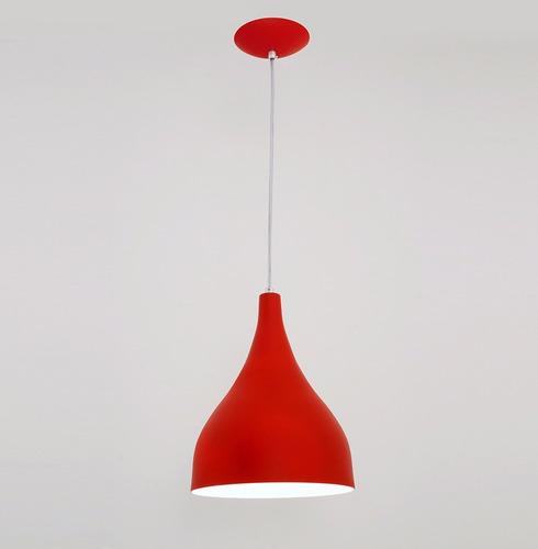lustre pendente ibiza medio -vermelho- auremar -varias cores