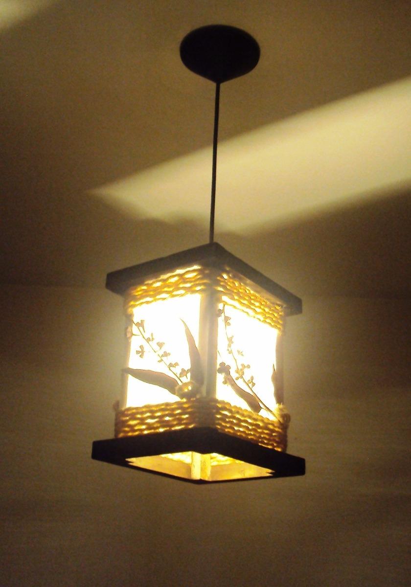 Lustre Pendente Luminária De Teto Rustico Sala Quarto R$ 149,00 em Mercado Livre