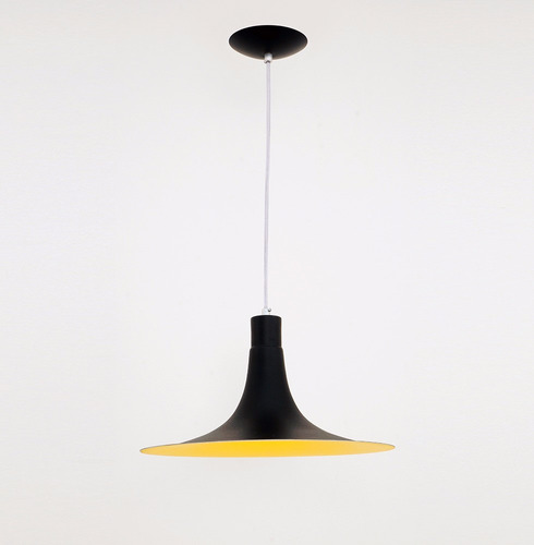 lustre pendente mallorca - preto - auremar -varias cores