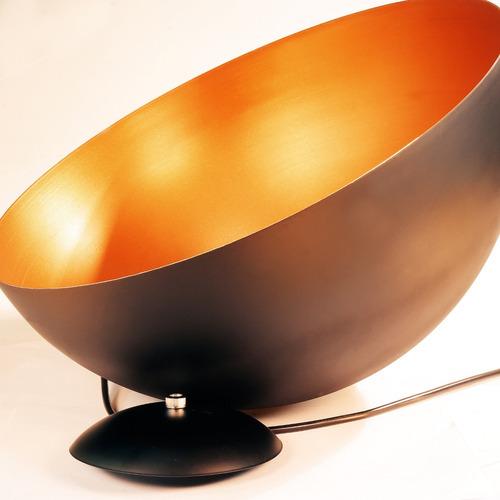 lustre pendente meia lua onix cobre alumínio 40cm orby