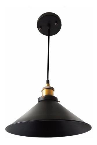 lustre pendente pelegrin pel-024 industrial retrô hangar 12x