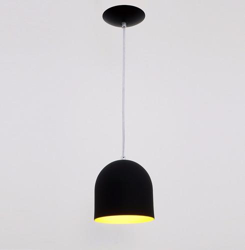 lustre pendente sevilha 1l - preto - auremar -varias cores