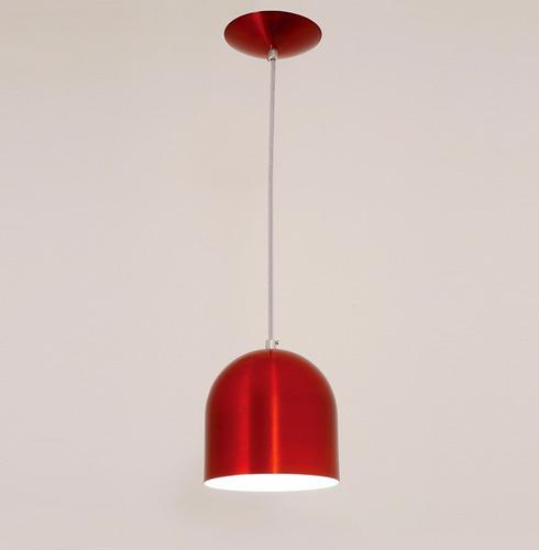 lustre pendente sevilha 1l -vermelho - auremar -varias cores