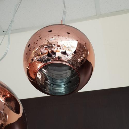 lustre pendente vidro cobre tom dixon -  copper shade ø18cm