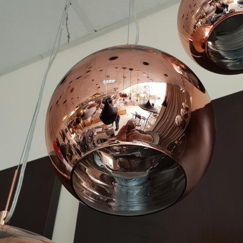lustre pendente vidro cobre tom dixon - copper shade ø25cm