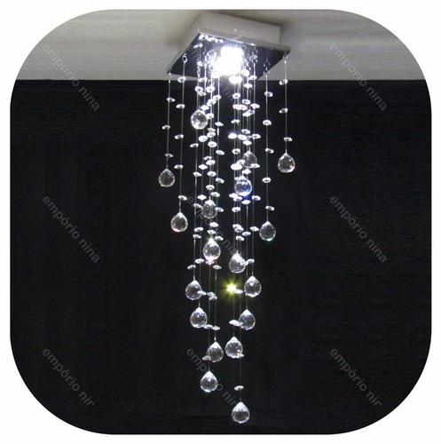 lustre plafon cristal cadore - cristais legítimos- 4 modelos
