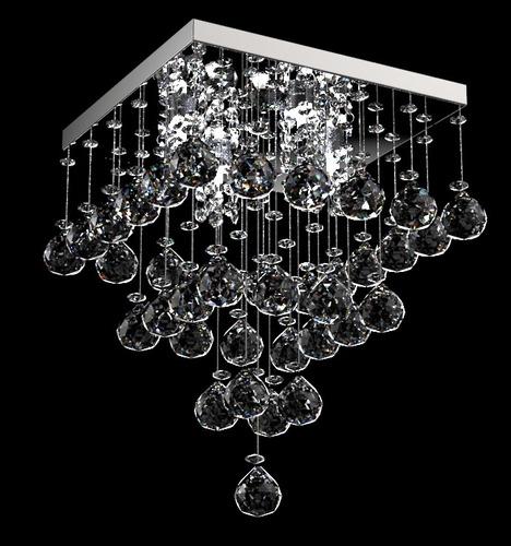 lustre plafon cristal translúcido piramide 28x28 300/28 new
