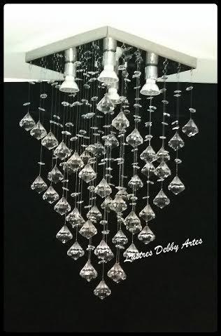 lustre plafon de cristal acrílico importado pião