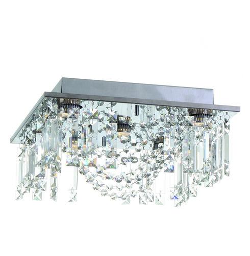 lustre plafon eugene - inox - auremar - cristais importados
