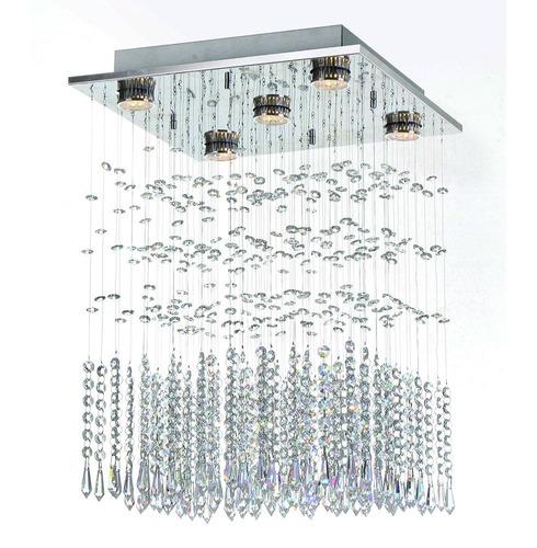 lustre plafon lavine - inox - auremar - cristais importados