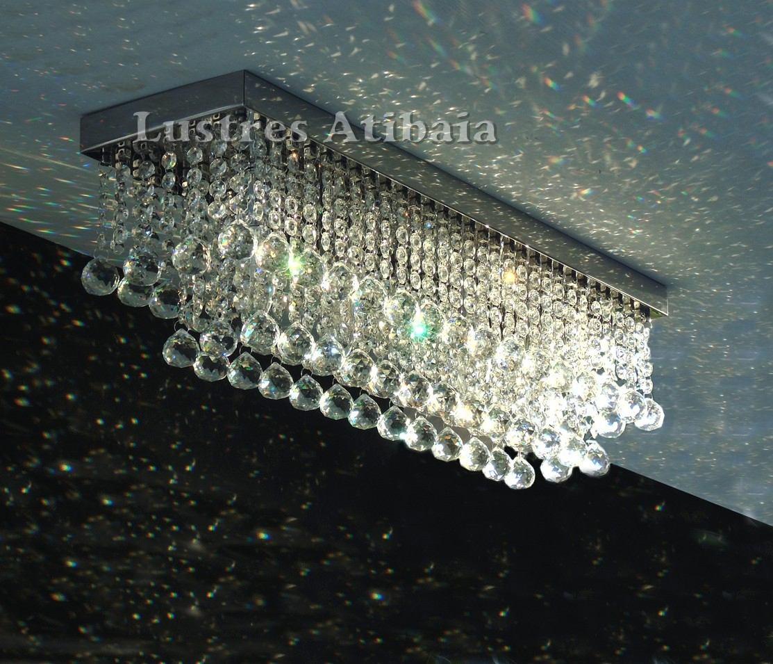 Lustre Retangular Em Cristal Leg Timo Para Sala De Jantar R 575  -> Lustres Para Sala De Jantar Valor