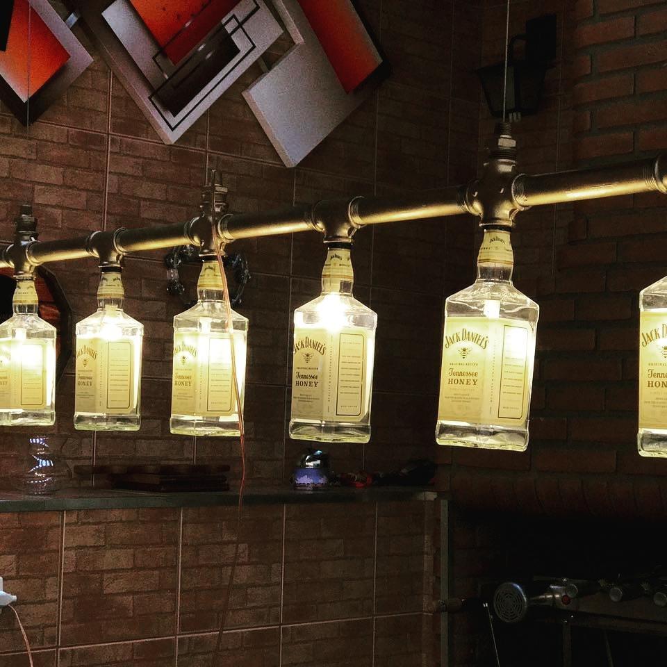 Lustre Lumin Ria Industrial Garrafas Jack Daniels R 1 300 00 Em