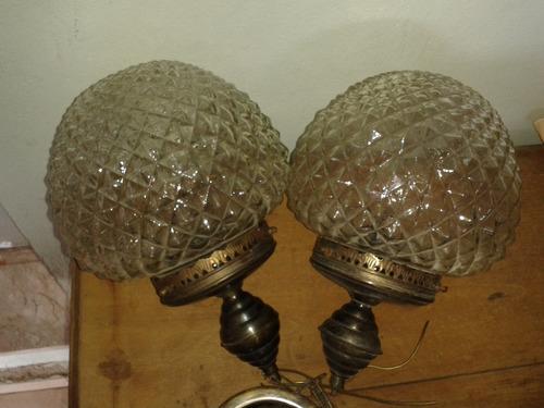 lustres em bico de jaca anos 60 (par) (only wood)