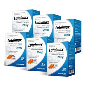 Luteimax Luteína & Zeaxantina - 6x 60 Cápsulas - Maxinutri