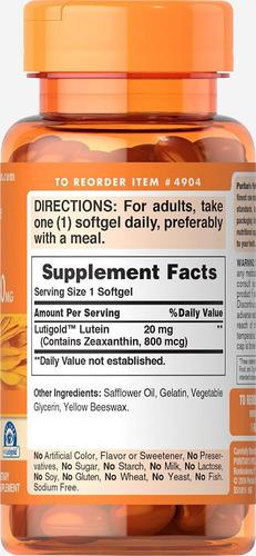 lutein 20 mg lutigold  c/ zeaxantina  - 120 soft val 06/2020