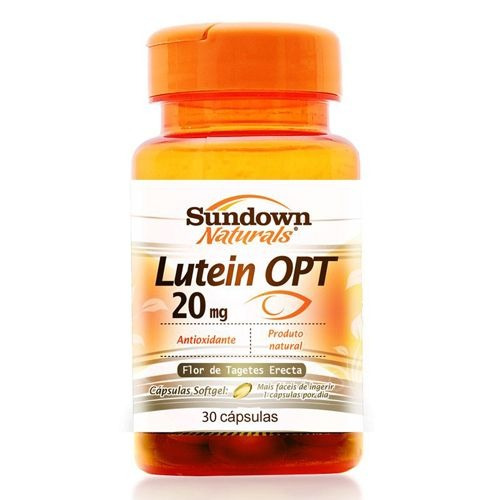 lutein opt 20 mg - 30 cápsulas - sundown
