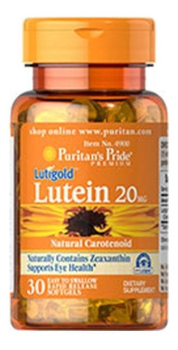 luteína com zeaxantina 20mg 30softs #4900 puritan's pride