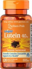 luteina  lutein 40 mg 120 cap blandas puritan¨s pride usa**