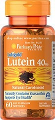 luteina lutein 40mg 60 softgels con zeaxantina made in usa**