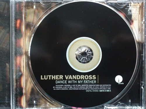 luther vandross dance with my father cd semnvo ed 2003 usa