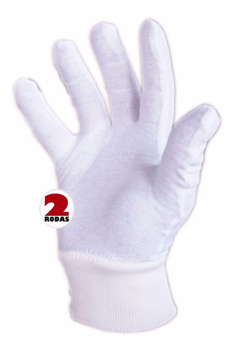 luva  algodão kit 3 prs fantasia branca  alergia cosplay