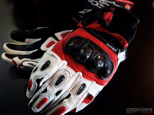 luva alpinestars spx air carbon nova - luva motociclista