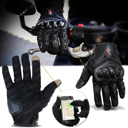 luva antiderrapante motociclista ciclista motoqueiro preta