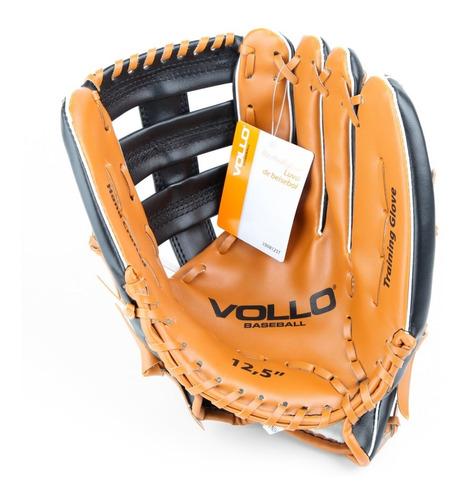 luva beisebol vollo couro sintetico tam. 12,5  cor marrom