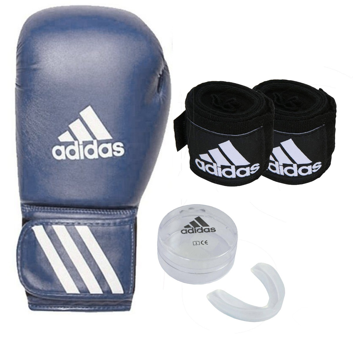 2c6b752be Luva Boxe adidas Speed 50 Cinza Muay Thai Bandagem Bucal - R  179