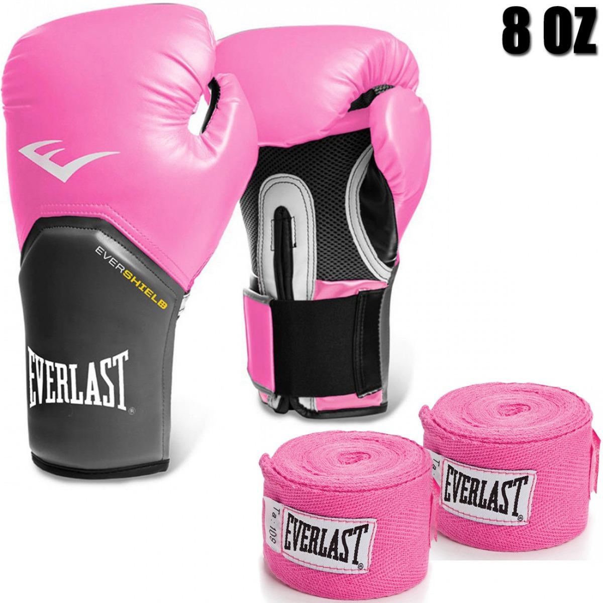 94640219a luva boxe everlast pro style elite 8 oz + 2 bandagens rosa. Carregando zoom.