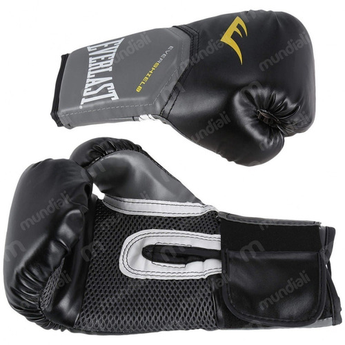 Luva Boxe Everlast Pro Style Elite Training 16 Oz Preta - R  190 fe3d01869607e