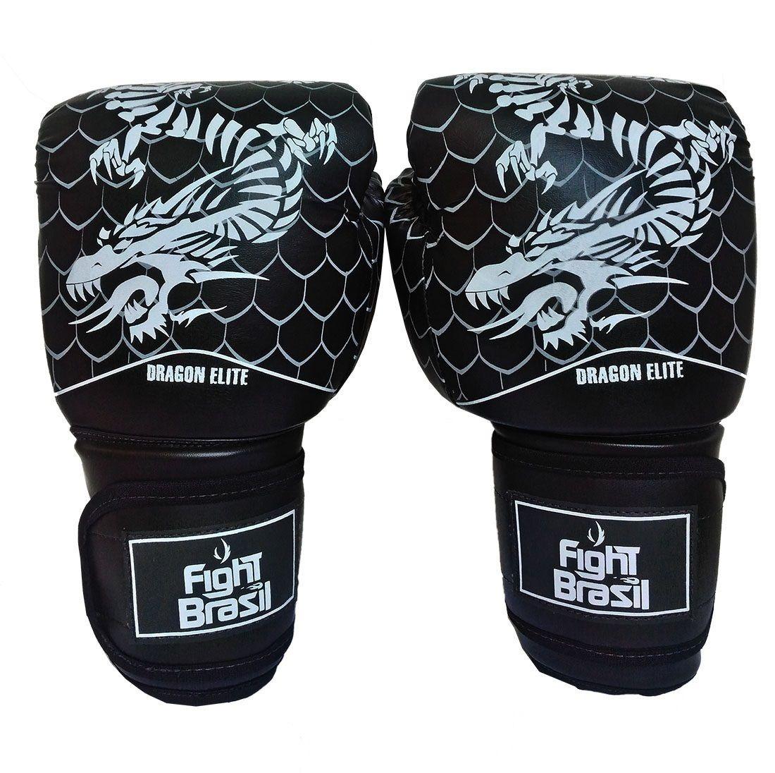4e2aca2ad Luva Boxe Luva Muay Thai 12 Oz Fight Brasil Dragon Elite - R  109