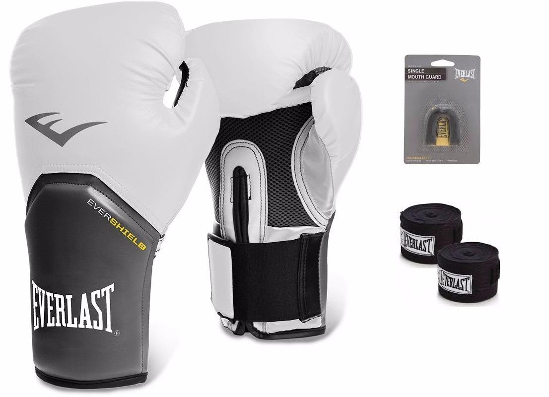 6e69f682c Kit Luva De Boxe Muay Thai Pro Style Elite Everlast Branca - R  164 ...