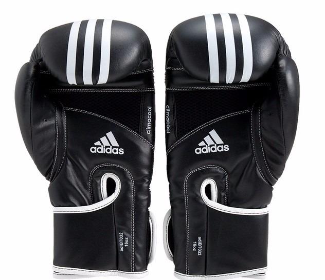 6e761df2a Luva Boxe   Muay Thai adidas Impact Preta   Branco - R  279