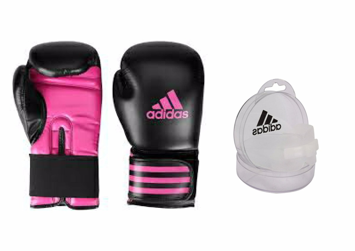 Luva Boxe  Muay Thai adidas Power100 Pink+bucal adidas Duplo - R ... 97f9e90c963c7
