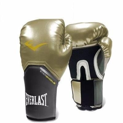 Luva Boxe Muay Thai Everlast Pro Style Elite 12 Oz - Dourada - R ... 2bbb331d3dfeb