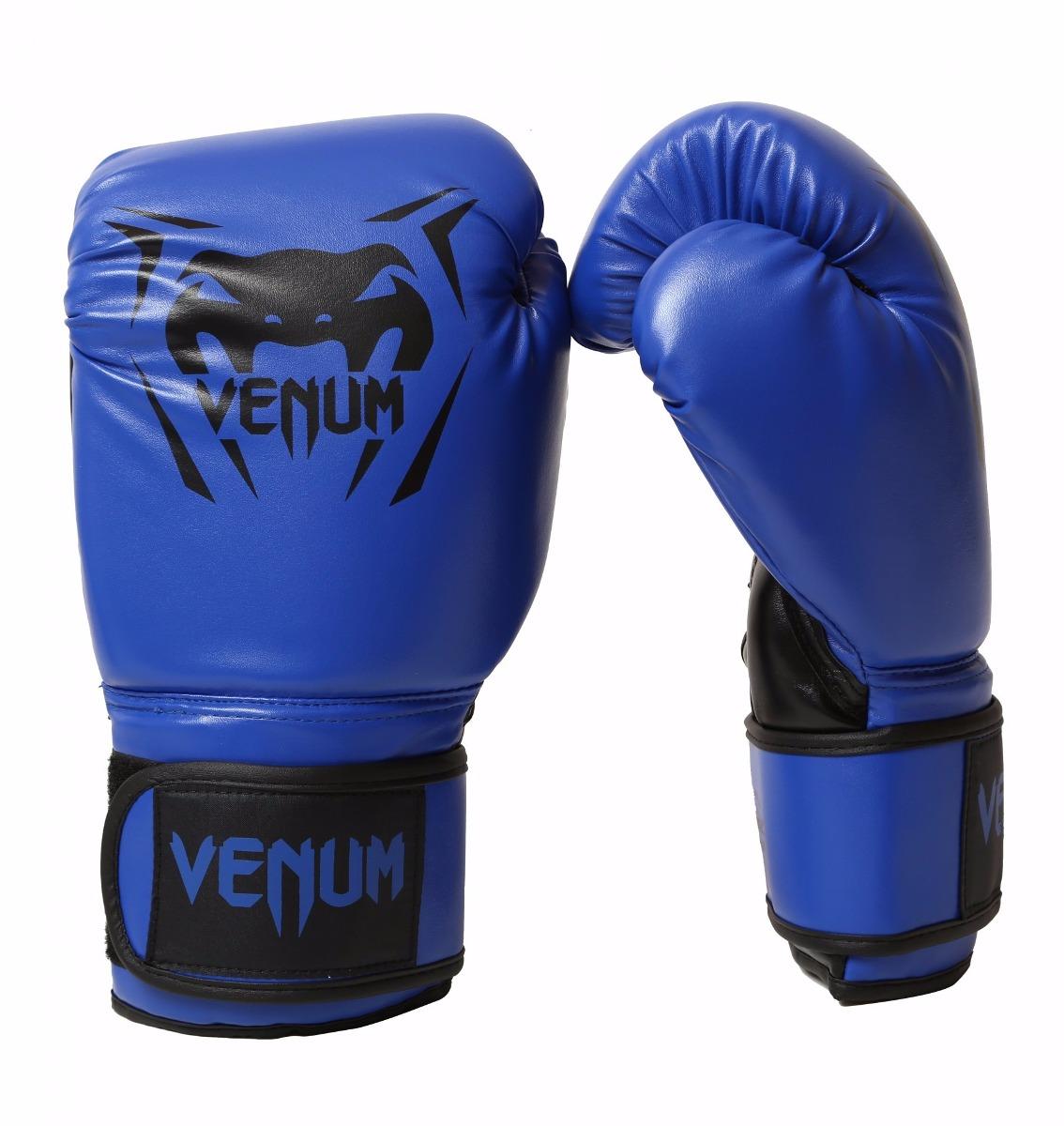 18d094a2af luva boxe  muay thai new contender venum azul 12oz+ bucal. Carregando zoom.
